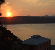 Sunset over Tathra Wharf by MissA