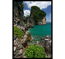Limestone & Blue Photographic Print