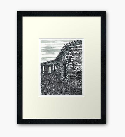 Abandoned Farmhouse - www.jbjon.com Framed Print
