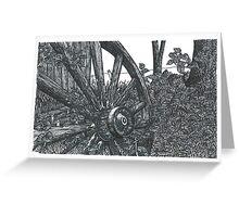 Old Wheel - www.jbjon.com Greeting Card