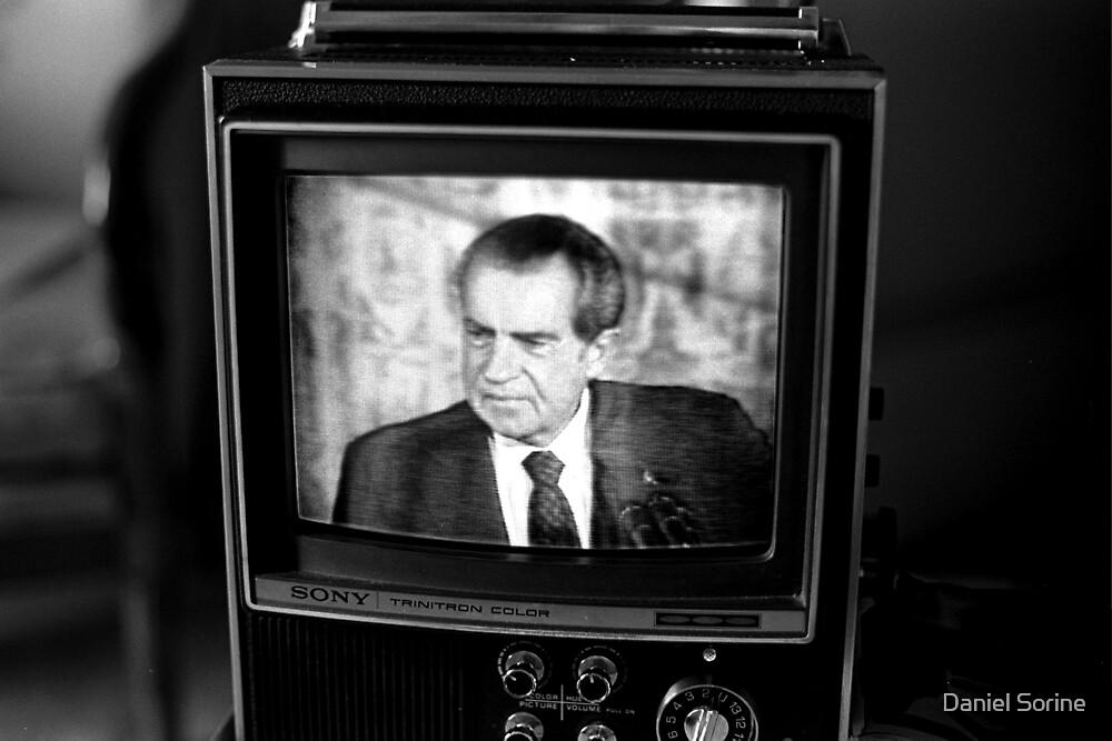 Richard Nixon resigning on TV by Daniel Sorine