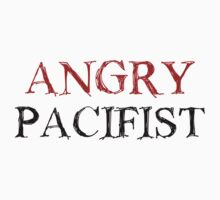 Angry Pacifist - Red And Black Ink by Djidiouf