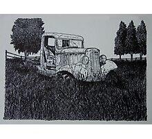 Abandoned Antique Pickup - www.jbjon.com Photographic Print