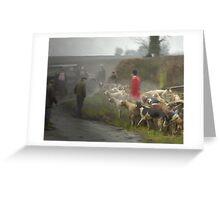 Last day hunting, Quorn Hunt Feb 2005 Greeting Card