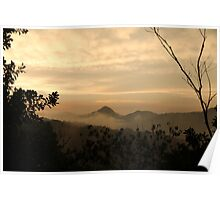 Dusk In The Mountains Poster