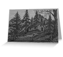 Old Woodsman Cabin - www.jbjon.com Greeting Card