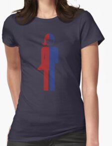 Ladyboy ~ Tomboy Toilet Restroom Sign Womens Fitted T-Shirt