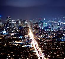 San Francisco After Dark by heyengel