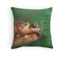 Hush Little Baby Throw Pillow