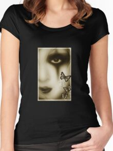 gothic girl tee Women's Fitted Scoop T-Shirt