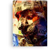 newspaper face Canvas Print