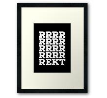 rrrekt in white Framed Print