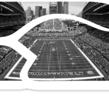 Seattle Seahawks CenturyLink Field Black and White Sticker