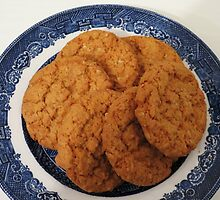 Oat Flake and Honey Crunchy Biscuits by BlueMoonRose