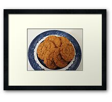 Oat Flake and Honey Crunchy Biscuits Framed Print