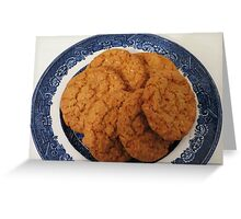 Oat Flake and Honey Crunchy Biscuits Greeting Card