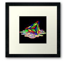 Melting Pyraminx cude Framed Print