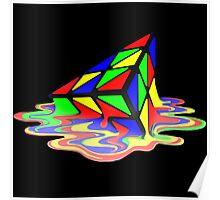 Melting Pyraminx cude Poster