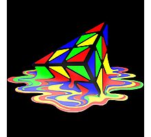 Melting Pyraminx cude Photographic Print