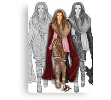 Autumnal Girl Canvas Print