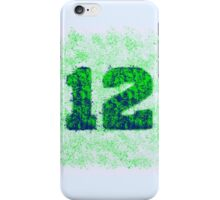 Abstract Twelve Team Spirit - Green On Blue iPhone Case/Skin
