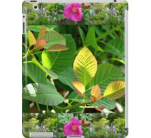 Hyde Hall Collage Featuring Wild Rose and Irises iPad Case/Skin