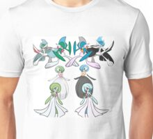 Gardevoir and Gallade with Shinies Unisex T-Shirt