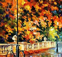 Lonely Bicycle — Buy Now Link - www.etsy.com/listing/193561369 by Leonid  Afremov