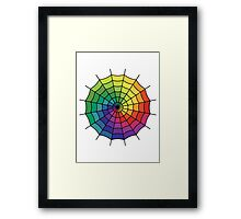 Spider Web - Color Spectrum Shift Framed Print