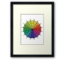 Spider Web - Color Spectrum Segment Framed Print