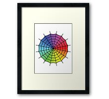 Spider Web - Color Spectrum Framed Print