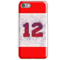 Abstract Twelve Team Spirit - Red On Blue iPhone Case/Skin