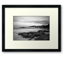 Catherine Hill Bay Clouds Framed Print