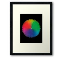 Spirograph - Color Spectrum Multiply Framed Print