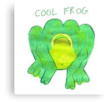 COOL FROG Canvas Print
