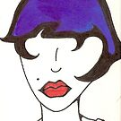 Fashion in Blue ACEO by gypsycaster