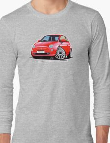 New Fiat 500 Red Long Sleeve T-Shirt