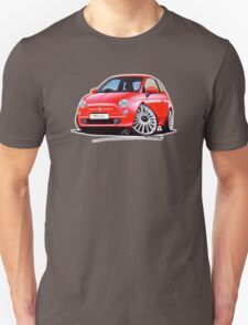 New Fiat 500 Red Unisex T-Shirt