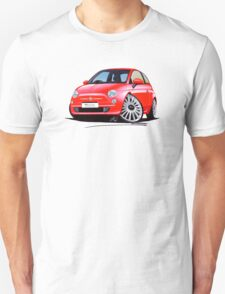 New Fiat 500 Red T-Shirt