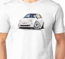 New Fiat 500 White Unisex T-Shirt