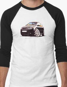 Skoda Fabia vRS Black Men's Baseball ¾ T-Shirt