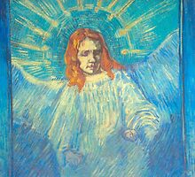 'Half Figure of an Angel' by Vincent Van Gogh (Reproduction) by Roz Abellera Art Gallery