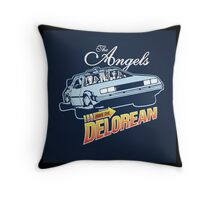The Angels Have the Delorean Throw Pillow