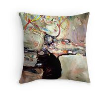 aerial landscape Throw Pillow