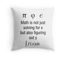 Math Is Not Just Solving For X, But Figuring Out Y Throw Pillow