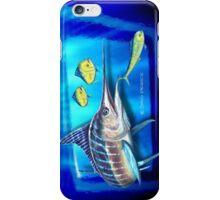 Striped Marlin & Dolphin fish iPhone Case/Skin