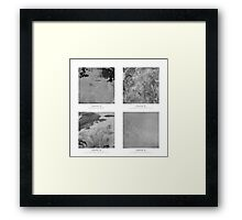 Materials - The beauty of concrete Framed Print