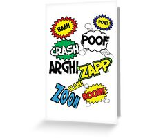 Comic Sound Effects Greeting Card