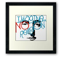 Imagine NO Religion vintage by Tai's Tees Framed Print