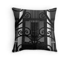Charleston Iron Gate & Porch Throw Pillow